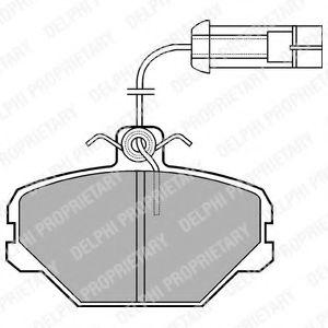 Гальмівні(тормозні) колодки  арт. LP566