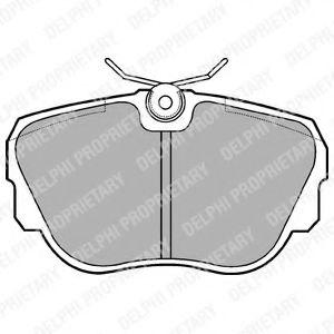 Комплект тормозных колодок, дисковый тормоз  арт. LP596