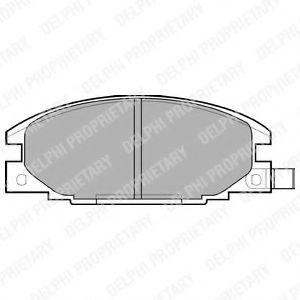 Гальмівні(тормозні) колодки  арт. LP629