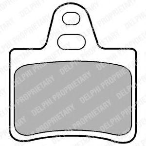 DELPHI CITROEN Тормозные колодки задние Xantia,XM 89- DELPHI LP655