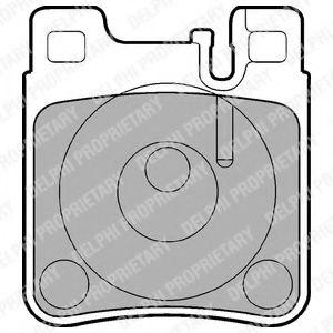 DELPHI DB Тормозные колодки задн.W124/210/140 DELPHI LP841