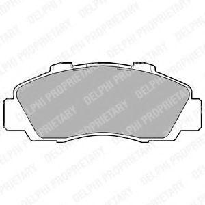 Комплект тормозных колодок, дисковый тормоз  арт. LP872
