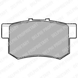Комплект тормозных колодок, дисковый тормоз  арт. LP948