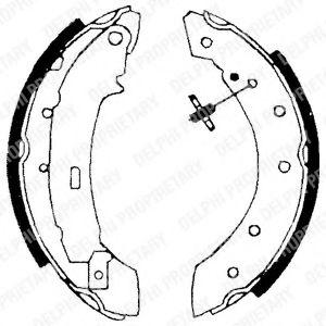 Гальмівні колодки, барабанні DELPHI LS1717