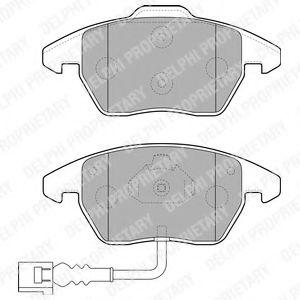 DELPHI VW Тормозные колодки передн. AUDI A3 03-;Golf V, Caddy, Touran; Skoda Octavia DELPHI LP1837