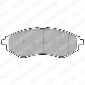 DELPHI CHEVROLET Тормозные колодки передн.Aveo 05- DELPHI LP1895