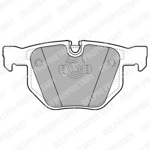 DELPHI BMW Тормозные колодки задн.5 E60 03- DELPHI LP1927