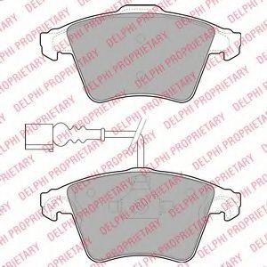 DELPHI VW Тормозные колодки передн.Touareg (teves) 02- DELPHI LP1950