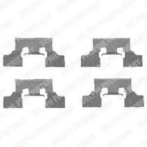 Ремкомплект гальмівних колодок  арт. LX0401