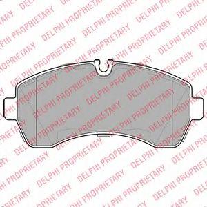 DELPHI DB Тормозные колодки передн.Sprinter,VW Crafter 06- DELPHI LP1981