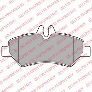 DELPHI DB Тормозные колодки задн.Sprinter,VW Crafter 06- DELPHI LP1983