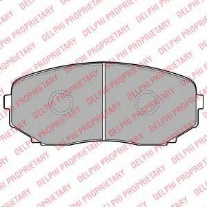 Гальмівні колодки, дискові DELPHI LP2098