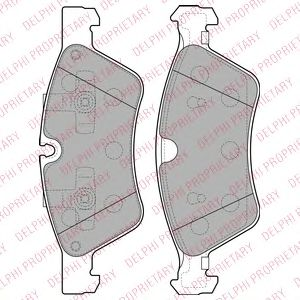 DELPHI DB Тормозные колодки передн.ML W164, R251 DELPHI LP2125