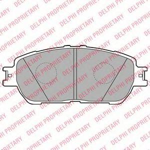 Гальмівні колодки, дискові DELPHI LP2132