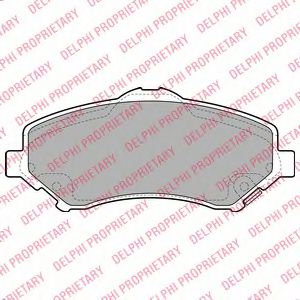 DELPHI CHRYSLER Тормозные колодки передн.Grand Voyager,Dodge Nitro,Cherokee 07- DELPHI LP2143