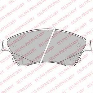 DELPHI CHEVROLET Тормозные колодки передн.Aveo,Cruze,Opel Astra J 09- DELPHI LP2171