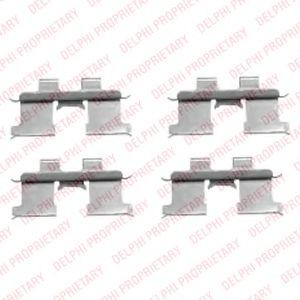Комплектующие, колодки дискового тормоза  арт. LX0467