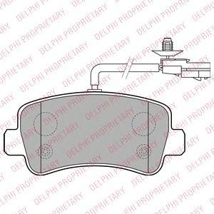 DELPHI RENAULT Тормозные колодки задн.Master III,Opel Movano10- DELPHI LP2191