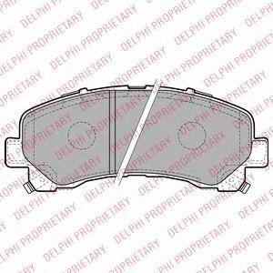 Тормозные колодки  арт. LP2229