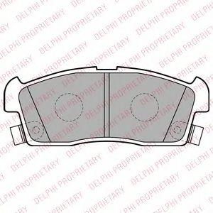 Комплект тормозных колодок, дисковый тормоз  арт. LP2258