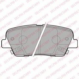 Гальмівні колодки, дискові DELPHI LP2202