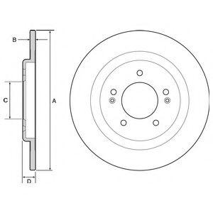 Гальмівний диск  арт. BG4563
