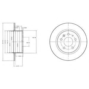 DELPHI DB Диск тормозной задн. W123/126 DELPHI BG2240