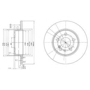 DELPHI DB Диск тормозной задн.W140  (290*12) DELPHI BG2738