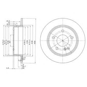 DELPHI DB Диск тормозной задний W202 93- DELPHI BG2761