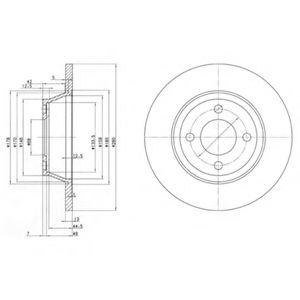 DELPHI AUDI Диск тормозной передний 80 1.6/2.0 91- DELPHI BG2783