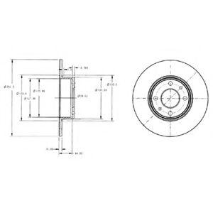 Гальмівний диск  арт. BG2322