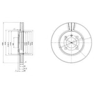 DELPHI BMW Диск тормозной передний E30 85- DELPHI BG2347
