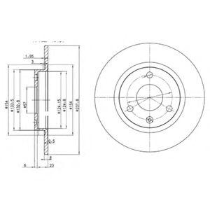 DELPHI CITROEN Тормозной диск передний AX,Saxo,Peugeot 106 86- DELPHI BG2355