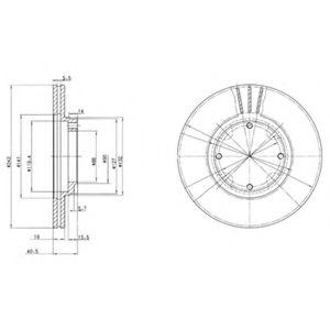 Гальмівні(тормозні) диски  арт. BG2394
