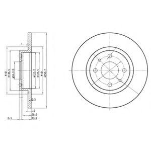 Гальмівні(тормозні) диски  арт. BG2411