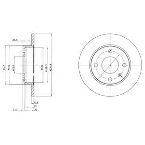 DELPHI FORD Диск тормозной передний Fiesta,Escort 90- DELPHI BG2439