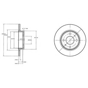 DELPHI LADA Диск тормозной перед. VAZ 2108-09 (12mm) DELPHI BG2466