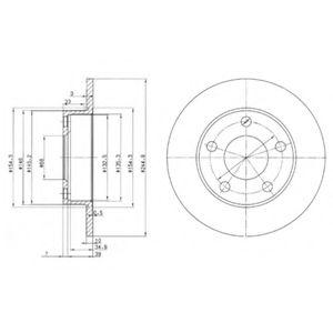 DELPHI AUDI Диск тормозной задн. 100/200 84-90, A8 94-02 (245*10) DELPHI BG2520