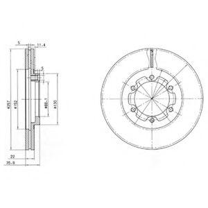 Гальмівні(тормозні) диски  арт. BG2524