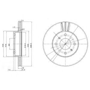 DELPHI NISSAN Тормозной диск передн.(вентил.) Primera 90-, Almera 00- DELPHI BG2567