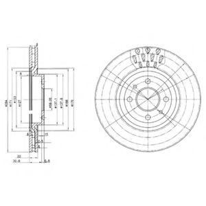 Гальмівні(тормозні) диски  арт. BG2617