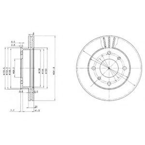 DELPHI NISSAN Диск тормозной передний Primera 1.6 16V 90- DELPHI BG2632
