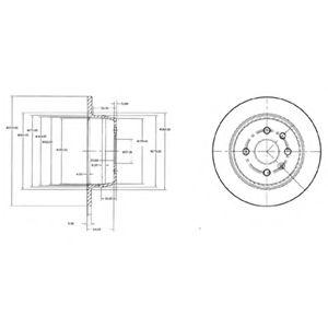 DELPHI OPEL Диск тормозной задний Astra F 91-,Vectra A 88- DELPHI BG2635