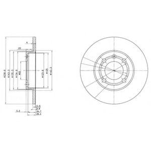 Гальмівні(тормозні) диски  арт. BG2911