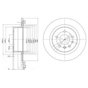 DELPHI OPEL Диск тормозной задний Omega B DELPHI BG2986