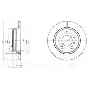 DELPHI BMW Диск тормозной задн. (вентил.) E36/46 (276*19) DELPHI BG3041