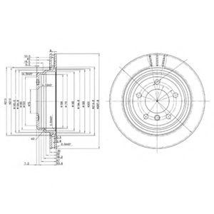 DELPHI BMW Диск тормозной задний (вентил.) E39 (298*20) DELPHI BG3042