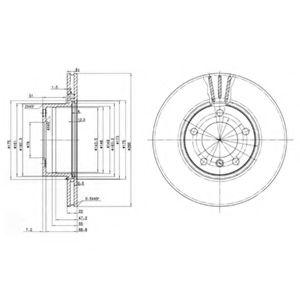 DELPHI BMW Диск тормозной перед. (вентил.) 5-serie (E39) DELPHI BG3043
