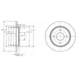 DELPHI FORD Диск тормозной задний Sierra,Focus DELPHI BG3054