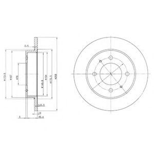 DELPHI MITSUBISHI Диск тормозной передн. L300/400,Space Gear DELPHI BG3070
